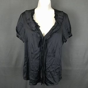 3 for $10- Large silk shiny blouse